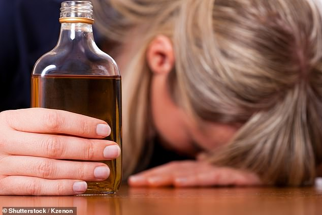 People who said they had lost consciousness after drinking - regardless of how much alcohol they consumed - had a 2-fold increased risk of dementia (stock image)