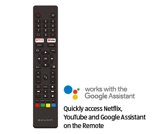 The TV has Google Assistant built in, which gives the viewer direct access to streaming apps Netflix, Amazon Prime and Youtube