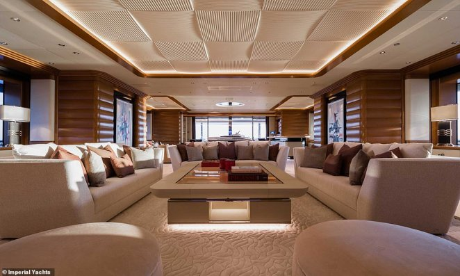 Motion of the ocean:The design of the liner is meant to mimic the 'motion and fluidity' of the sea, with incredible high ceilings being the product of fine Italian craftsmanship and attention to detail