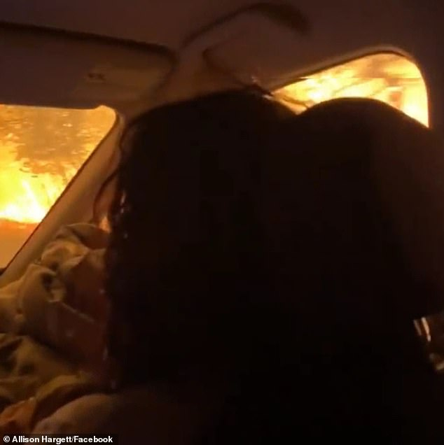 In one of the videos, Lilly is heard asking whether they're going to be okay, and Allison assures her that they will. But moments later, the family's car ran out of gas, leaving them stranded