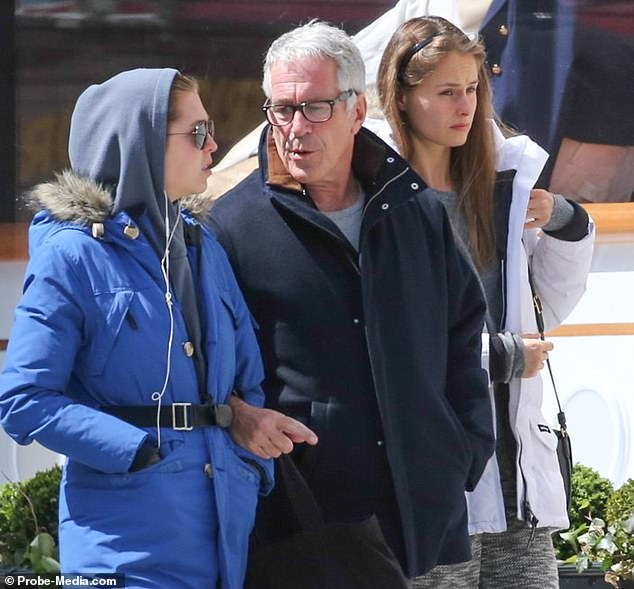 Shuliak arrived in the US in 2009 and the then 20-year-old is understood to have come to Epstein¿s attention soon afterwards. Pictured: Epstein walks along New York's Madison Avenue with Shuliak and another unidentified female in December 2015