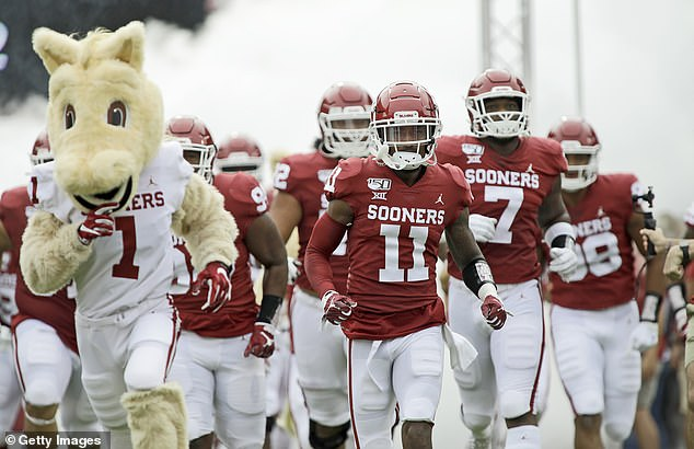 The Oklahoma Sooners take the field before the game against the Texas Tech Red Raiders at Gaylord Family Oklahoma Memorial Stadium on September 28, 2019 in Norman, Oklahoma. This season's opener will take place against Missouri State on Saturday