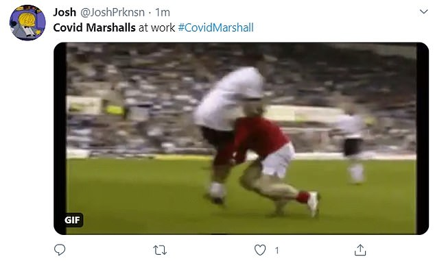 Others referenced Boris Johnson's notorious rugby tackle in a charity football match
