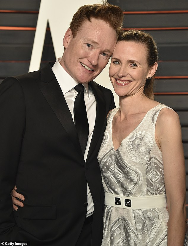 Knows something:Conan also had several years of marriage under his belt, having tied the knot with Liza Powel O'Brien in 2002