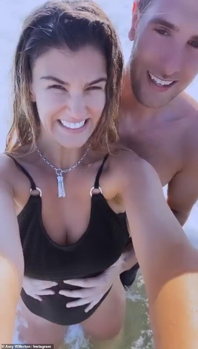 Couple time:Amy has been sharing regular updates from her Cornwall staycation with Daniel with a slew of swimwear snaps