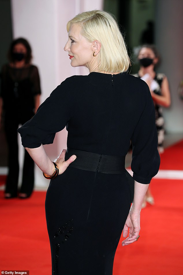 Take a good look: Cate cut a glamorous figure from all angles