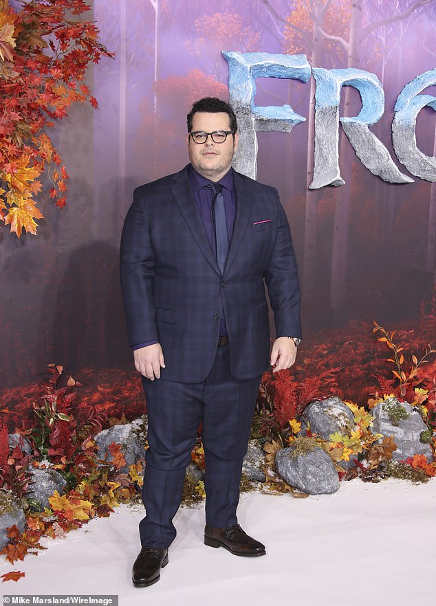 'Josh Gad gives one of the great animated voice performances as Olaf through the Frozen films,' said Abraham. 'To have the opportunity to work with him in the recording booth was such a privilege and career highlight' (Gad seen in November)