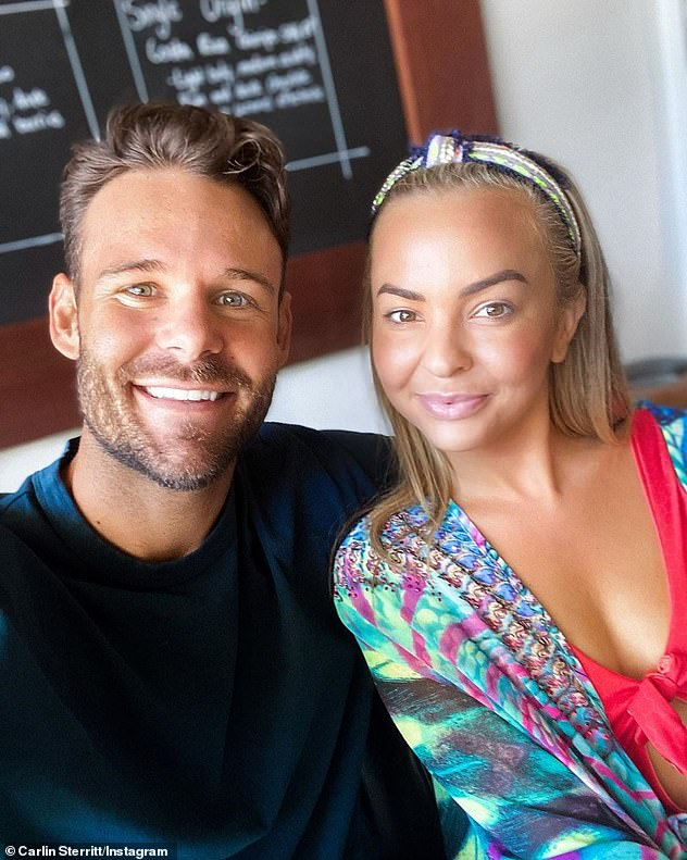 Done and dusted: Carlin and Angie announced their split in early July, following weeks of speculation they had quietly called it quits