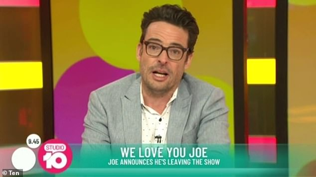 Despite the emotional news, Joe's reassured viewers that he was 'talking to other people about some exciting work opportunities'