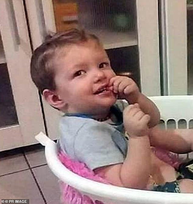 Mason Jet Lee (pictured) died after his mother's boyfriend struck him so hard in the abdomen it ruptured the 22-month-old's small intestine, leading to an infection