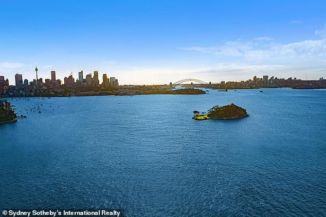 "The view from ""Edgewater"" at Point Piper which has been reportedly sold for $95 million in the second highest house sale in the country"