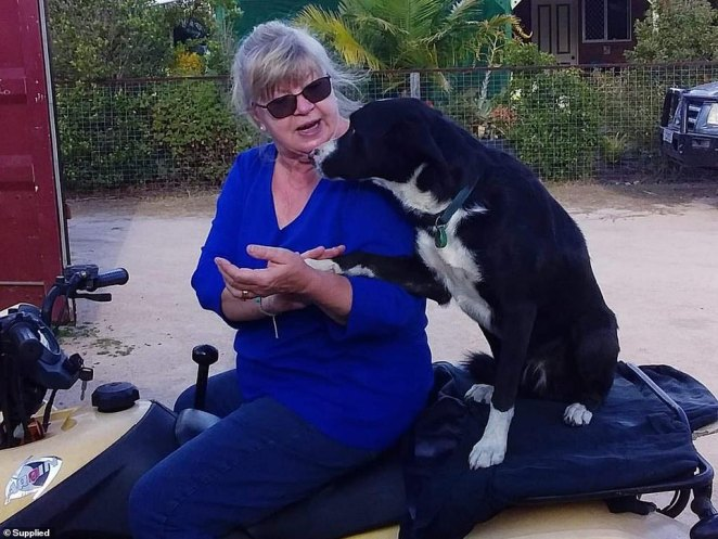 Two weeks on and the family is still struggling with their loss. 'It's tough we're having our moments still,' Mrs Jackson said (Pictured: Mrs Jackson with Tippy)