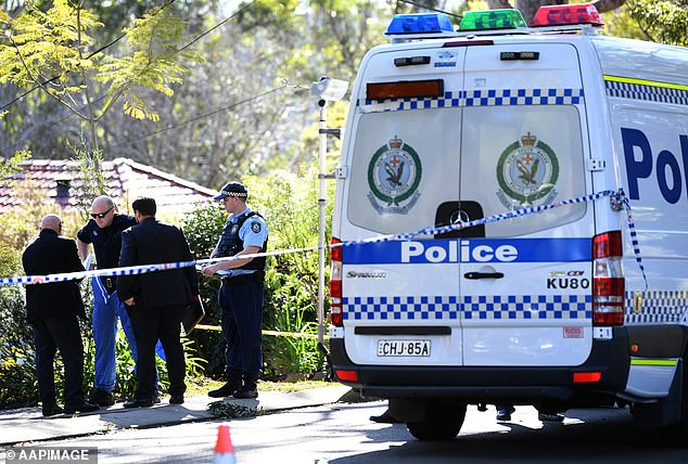Edwards, 67, shot dead Jack and Jennifer at West Pennant Hills on July 5, 2018, before killing himself. Pictured: Police out the front of the home the day after their deaths