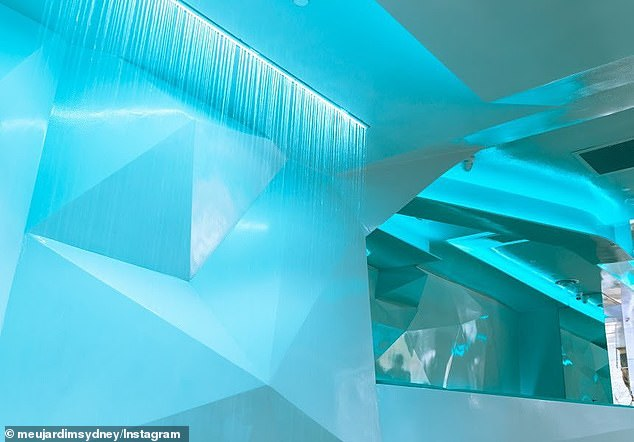 Intended to look like a glacier, the venue cost $4.1 million to fit out and includes a waterfall and firepit