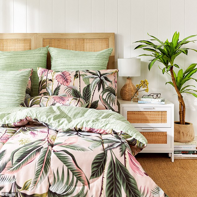 On September 3 Big W launched a huge Fresh Mirage' spring homewares collection featuring a range of stunning rattan furniture, outdoor living products, floral bedding and décor - but the new collection will only be available from September 3 to 16