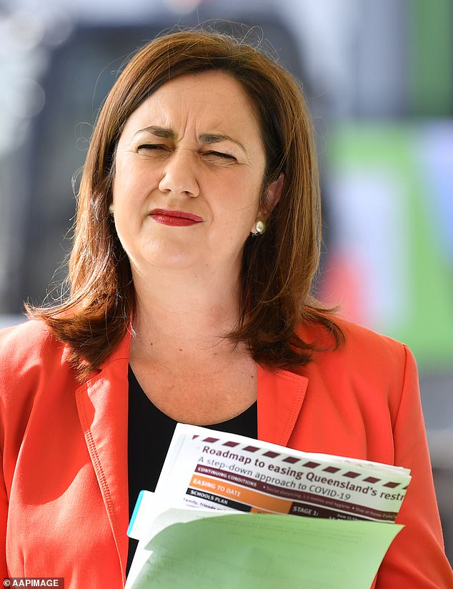 Three Queensland Government ministers have announced they would resign before the upcoming election leavingPremier Annastacia Palaszczuk (pictured) 'crumbling'