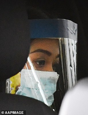 Ms Caisip (pictured in the car on the way to a private viewing of her father's body) said Premier Palaszczuk has 'destroyed my life'