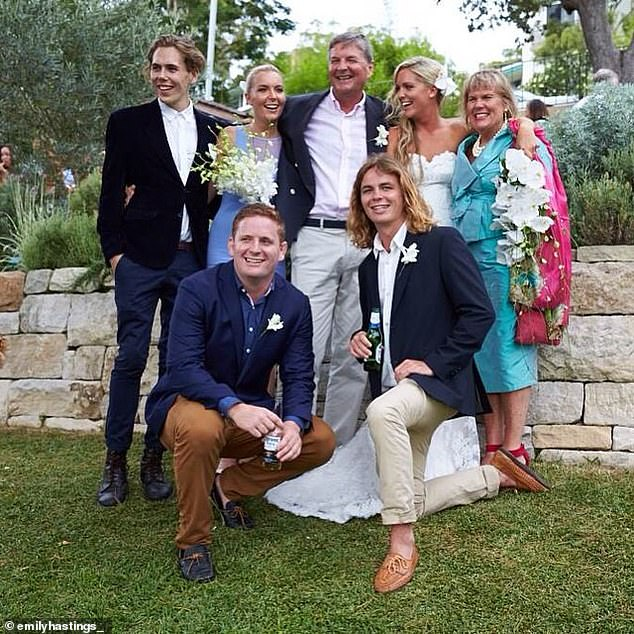 The stockman's family (pictured) has issued a statement describing the 27-year-old as the 'kindest' and most 'generous' person