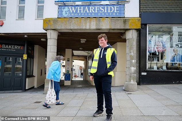 Marshals are already a presence on Cornwall's streets, ensuring people are 'respecting social distancing.'