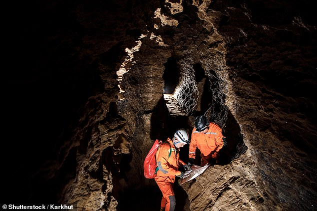A French explorer who got lost in a network of underground caves has reemerged in someone's back garden (file photo)