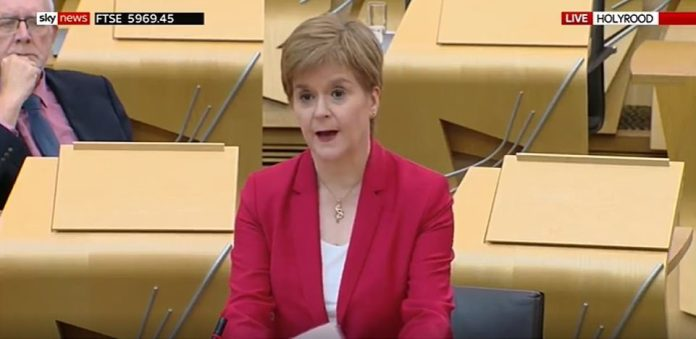 Nicola Sturgeon told the Scottish Parliament that the R rate could be as high as 1.5 north of the border, as she announced that a planned easing of restriction would not be going ahead from next week