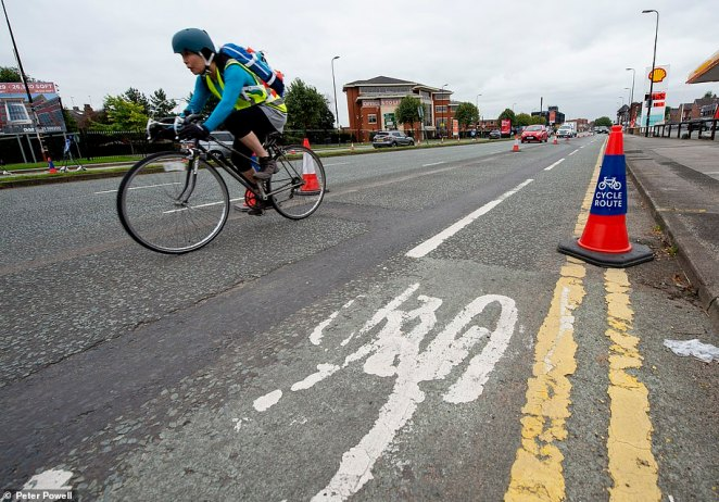 The lane was removed in June by Trafford Council on the A56 between Sale and Altrincham after drivers complained of being stuck in a queue for an hour to travel just two miles