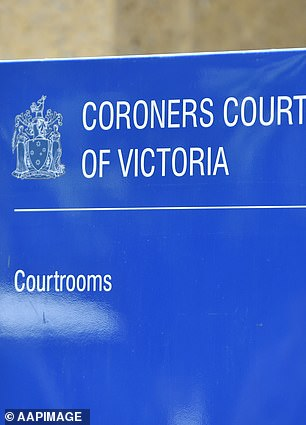 The man, who was infected with coronavirus when he died in August, has been categorised as a 'reportable death' by the Coroners Court of Victoria (pictured)