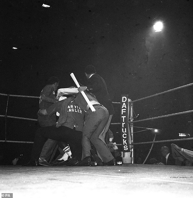 Hagler had beer bottles and cans thrown at him following the third-round stoppage victory