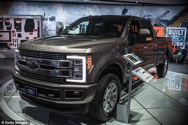 Price is alleged to have used another chunk of loan money to buy a 2020 Ford F-350 pickup truck (file photo)