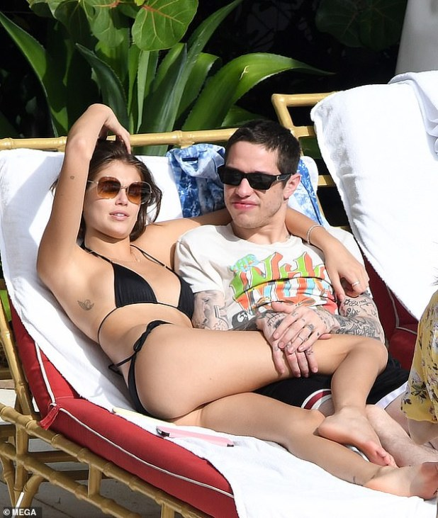 Former Flame: Kaia was previously in a relationship with SNL star Pete Davidson (pictured November 2019)