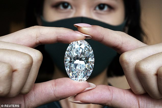 Only seven such diamonds - known in the trade as D color flawless or internally flawless white diamonds, over 100 carats - have previously been sold at auction