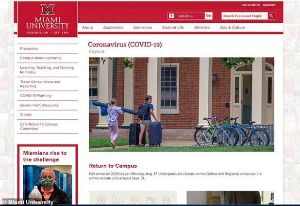 The university said it would continue to bring 40 percent of its classes back to campus this month
