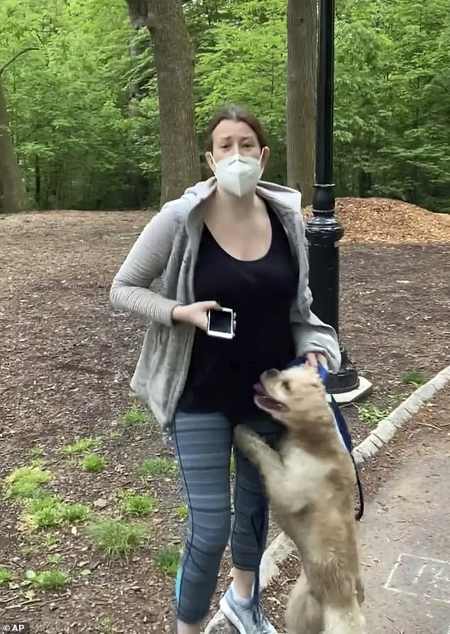 Infamous: Well-known examples of women called Karen include Amy Cooper, who tearfully called 911 on a birdwatcher who asked her to leash her dog in Central Park