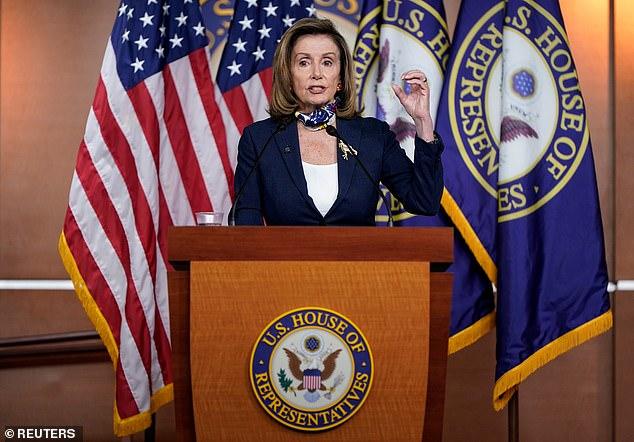 Speaker Nancy Pelosi said of President Trump's response to the COVID pandemic:'Trump lied, people died'
