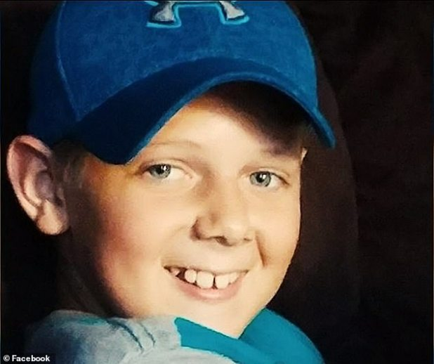 The family said Tanner (pictured) started feeling sick from vomiting and headaches after swimming with others at the North Florida campground