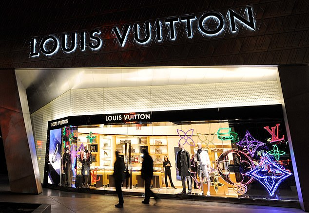 A Louis Vuitton store in Las Vegas is seen in a file photo. According to the merger agreement, a material adverse effect is triggered if Tiffany's business underperforms its peers substantially