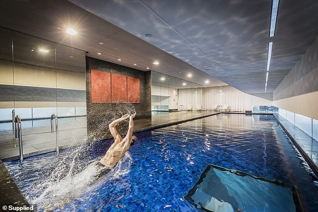 Pictured: The pool at Frasers Suite. There is also a spa and sauna for guests to use