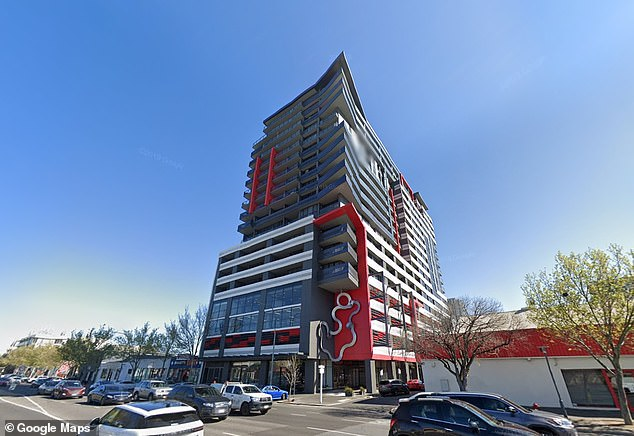 A man is dead after falling from a 17th-floor balcony in central Adelaide