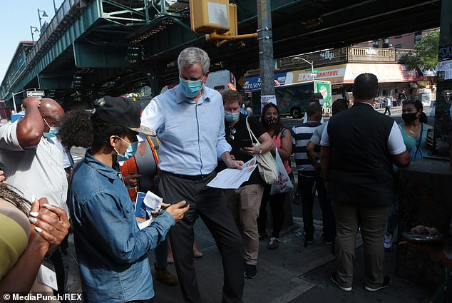The CEOs called for de Blasio to take 'immediate action to restore essential services' as the first step in fixing the complex economic challenges the city was sure to face in the wake of the pandemic