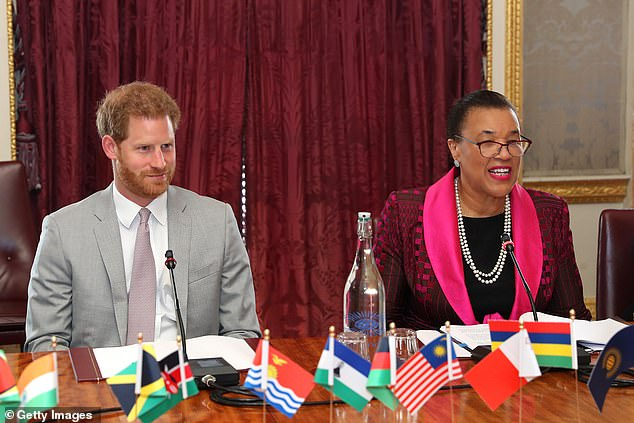 Her comments come after the Duke of Sussex told young leaders from the QCT in July that the Commonwealth must acknowledge its 'uncomfortable' past in order to 'right those wrongs'