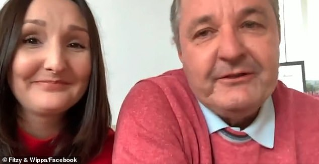 Emotional: Clearly moved, Steve told the radio hosts their assistance was 'very much appreciated' and called their generosity 'unbelievable'. Pictured with his daughter, Lauren