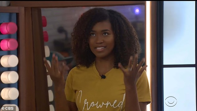 Close bond:When Bayleigh spoke, she called Da'Vonne her 'sister for life,' and said she'd shown the world 'Black girls don't have to compete; we can love each other and support each other'