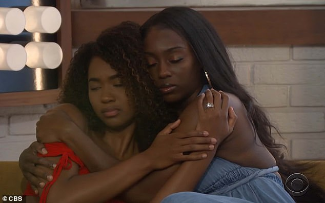 Best friends:The 27-year-old model had been put up for eviction against her best friend in the house, acting coach Da'Vonne Rogers, 32