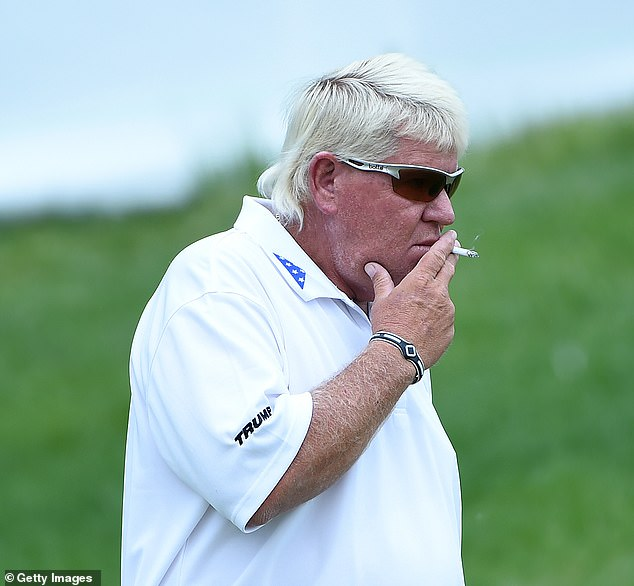American golfer John Daly, 54, who formerly smokes 40 cigarettes a day as well as drinking 28 Diet Cokes, has been diagnosed with bladder cancer