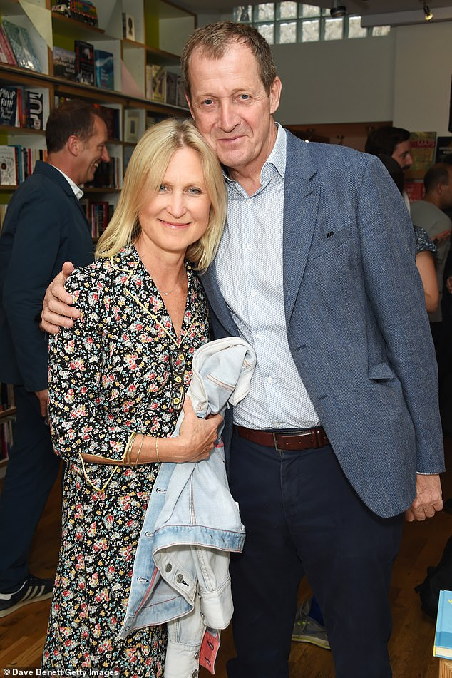 "Pictured: Fiona Millar (left) and Alastair Campbell attend the launch of new book ""Ctrl Alt Delete"" by Tom Baldwin at Ink 84 on July 12, 2018 in London"