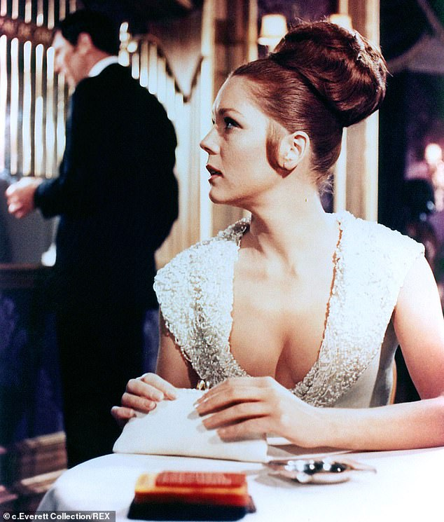 Rigg becamethe second Bond girl to marry 007 when she starred in James Bond 'sOn Her Majesty's Secret Service in 1969