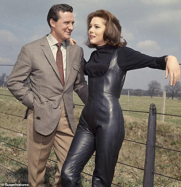 Rigg starring alongside co-star Patrick Mcnee in the original TV hit series, The Avengers in 1966