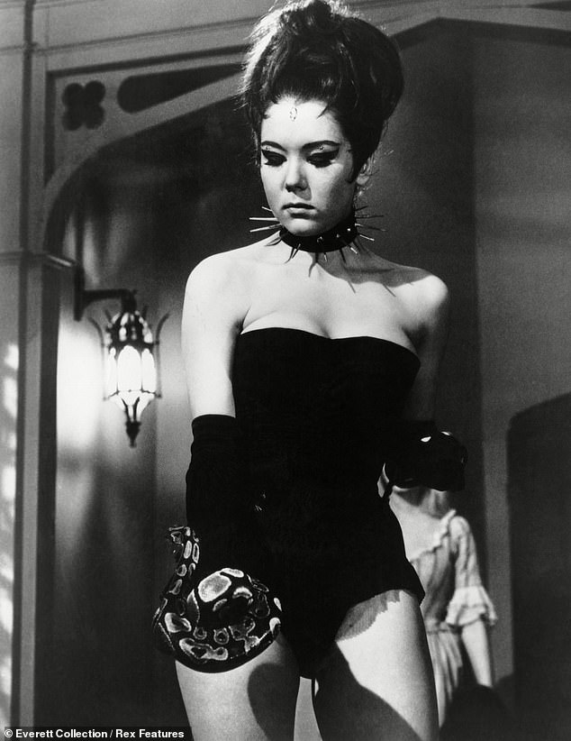 """As Mrs Peel in 'A Touch of Brimstone', the 21st episode of the fourth series of the 1960s cult British spy-fi television series The Avengers, Rigg donned arisqué """"Queen of Sin"""" costume - which she designed herself"""
