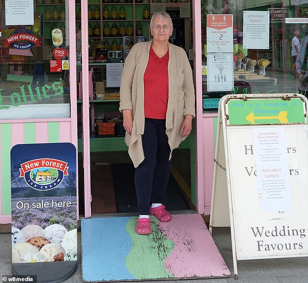 Sweet shop owner Janet Ashby said job cuts had 'hit the town hard'