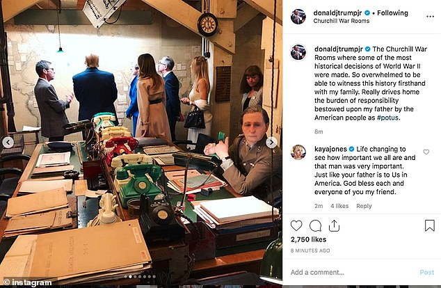 Trumps' children posted pictures of the tour to social media